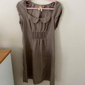 anthropology brown dress